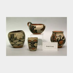 Seven Pieces of Southwest Native American Pottery.