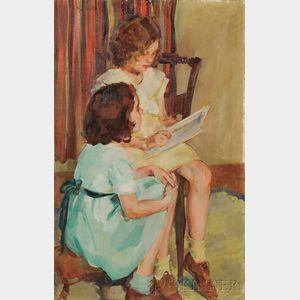 Ellen Day Hale (American, 1855-1940)    The Sisters