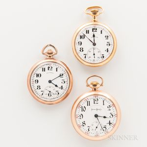 Three Illinois Watch Co. Open-face Watches