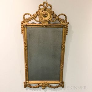 Continental Neoclassical Carved and Gilt Mirror