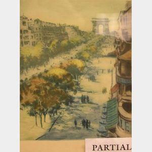 Two Framed Prints Depicting Paris