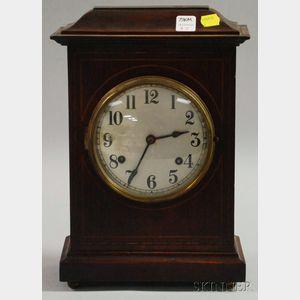 New Haven Mahogany English Market Mantel Clock