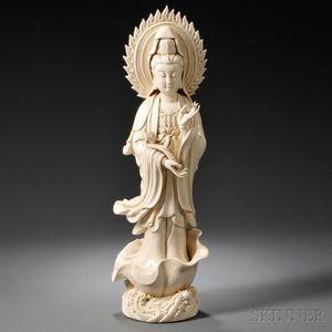 Blanc de Chine Figure of Guanyin