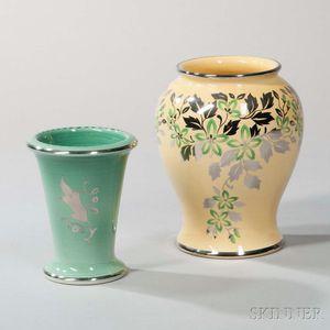 Two Wedgwood Veronese Ware Vases