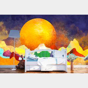 Artists for Humanity Designed Custom Wallpaper Mural