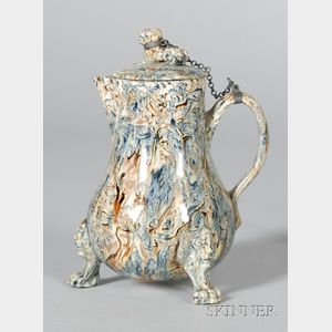 Staffordshire Solid Agate Cream Jug and Cover