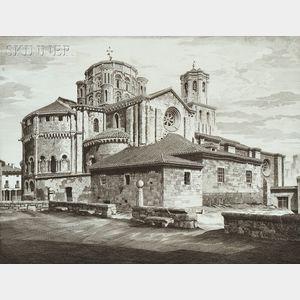 John Taylor Arms (American, 1887-1953)      Two Architectural Views: La Colegiata, Toro