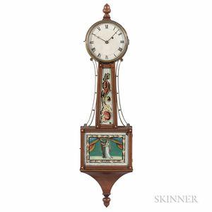 "Inlaid Mahogany Boston Patent Timepiece or ""Banjo"" Clock"