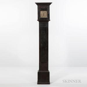 Early Black-painted Longcase Clock