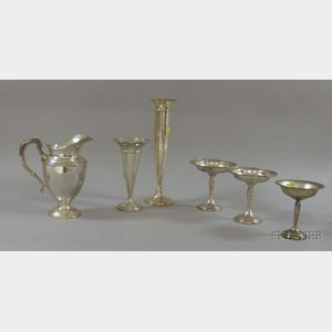 Six Sterling Table and Serving Pieces