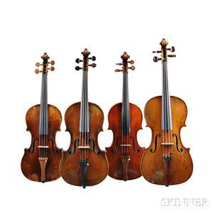 Viola and Three Violins