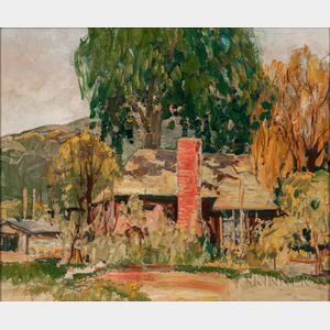 Attributed to Charles Reiffel (American, 1862-1942)    House Among the Trees, California