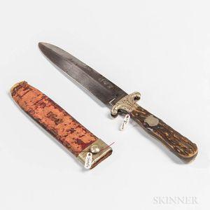 Spear-point Bowie Knife