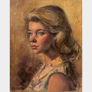 Clemente Micarelli (American, 1929-2008)    Portrait of a Lady