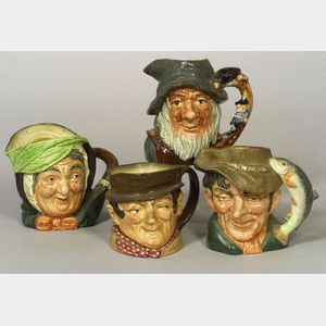 Four Royal Doulton Ceramic Toby Jugs