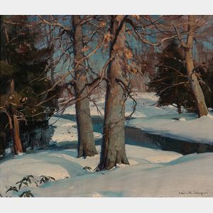 Emile Albert Gruppé (American, 1896-1978)      Winter Stream