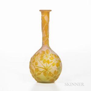 Gallé French Cameo Glass Vase