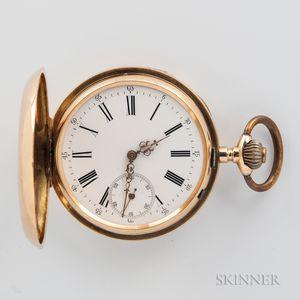 Swiss 14kt Gold Hunter Case Watch