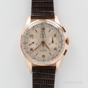 Titus 18kt Gold Manual-wind Chronograph Wristwatch
