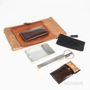 Group of Gentleman's Desk and Personal Items