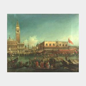 Manner of Giovanni Antonio Canale, called Canaletto (Italian, 1697-1768)  Doge's Palace, Venice