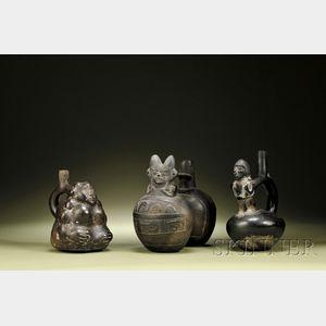 Three Pre-Columbian Blackware Vessels