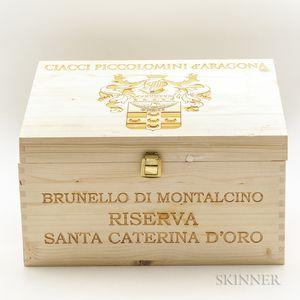 Ciacci Poccolomini dAragona Brunello di Montalcino Riserva Santa Caterina dOro 2010, 6 bottles (owc)