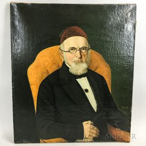 Continental School, 19th Century      Gentleman with Spectacles and Fez