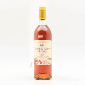 Chateau de Fargues 1980, 1 bottle