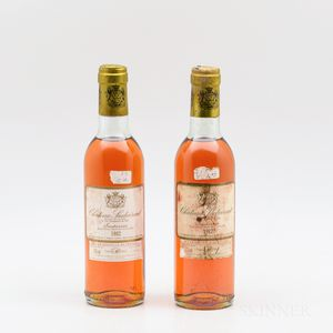 Chateau Suduiraut Ancien Cru du Roy 1982, 2 demi bottles