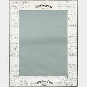 Decoupaged Civil War Sheet Music Ogee Mirror