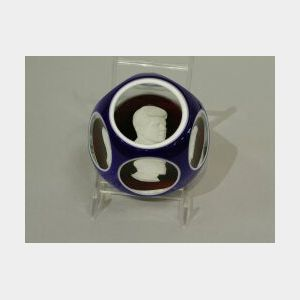 Baccarat John F. Kennedy 1963 Glass Paperweight.