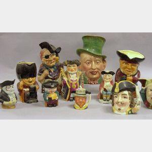 Eleven Assorted Ceramic Toby-type Jugs.