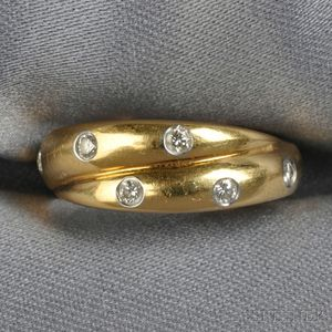 "18kt Gold, Platinum, and Diamond ""Etoile"" Ring, Tiffany & Co."