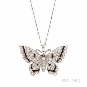 Art Deco Platinum and Diamond Butterfly
