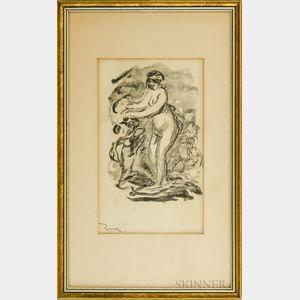 Pierre-Auguste Renoir (French, 1841-1919)      Femme au cep de vigne 1re variante