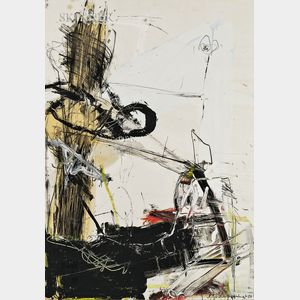 American School, 20th Century      Gestural Abstract.