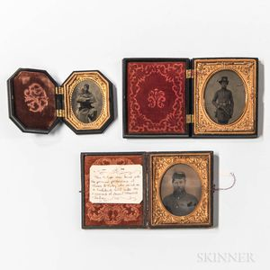 Three Tintype Images of Soldiers
