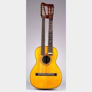 American Harp Guitar, possibly J.W. Jenkins Company, Kansas City, c. 1895
