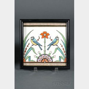 Minton's Christopher Dresser Design Earthenware Tile