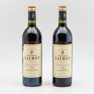 Chateau Talbot 1989, 2 bottles