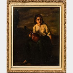 Continental School, 20th Century      Peasant Girl with Jug