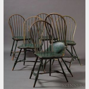 Set of Six Windsor Bow-back Side Chairs