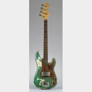 American Solid Body Electric Bass Guitar, Fender Musical Instruments,   1964, Model Precision Bass