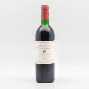Chateau LArrosee 1985, 1 bottle