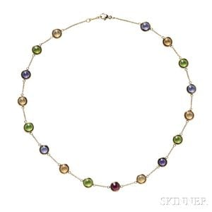 18kt Gold Gem-set Necklace, Paloma Picasso for Tiffany & Co.