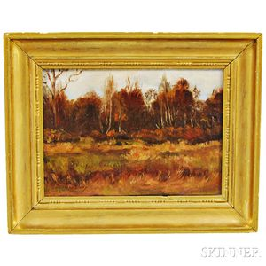 Bernard Corey (American, 1914-2000)      Autumn Landscape