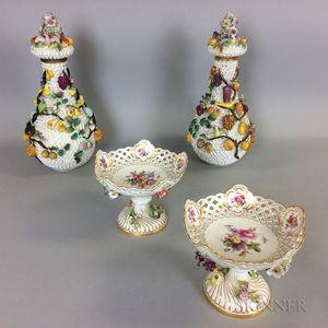 Four Continental Porcelain Items