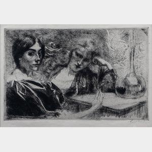 (Paul) Albert Besnard (French, 1849-1934)      Morphinomanes