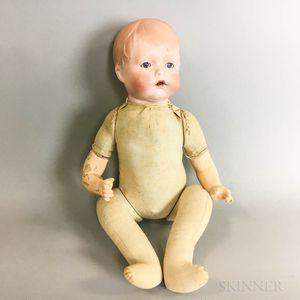 Joseph Kallus German Bisque Head Doll